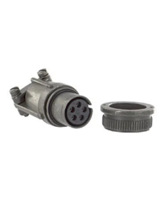 Amphenol Industrial - MS3106F14S-5S - Connector MIL-DTL-5015 Series, Straight Plug, 5 Contacts, Solder Socket, Threaded, 14S-5