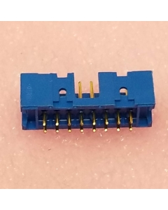 Amphenol ICC/FCI - 88880-070 - Connector, header. PCB Mount, 16 Contacts, Tail Terminal, Guide Slot