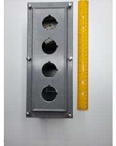 Allen Bradley - 800H-4HZ4R - Heavy Duty Pushbutton Enclosure, 4Hole with 1-3/4in Diameter.