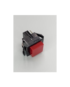 OSLO Switch - SPA1A - Switch, Square Pushbutton.  Push On / Push Off, SPST, Red Opaque Cap, 10Amp 125VAC.