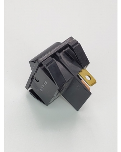 OSLO Switch - RTP1A9C9 - Rocker Switch, SPST Maintained,  2 Position, 20AMP-125VAC 15AMP-250VAC, Black, Snap-In Mount.