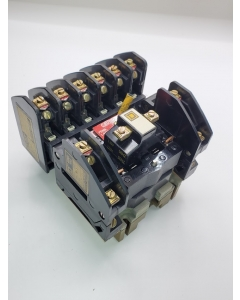 Square D -  8501 Type  H1R  - Series A Latching  Relay, 120VAC Coil, 8 Pole, NEMA A600, New.
