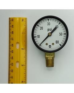 "AMETEK USG - SPEC. No.  45764 - Pressure Gauge 2 Inch Diameter,  0-60PSI. 1/4"" Inlet, P500 Series"