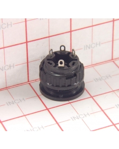 Schurter - SWM1 - 3-266 - Switch, Flush Rotary. Impedance Selector Switch, 1P3T (One pole 3 position) A-B-C. Panel Mount