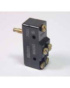 Honeywell - Microswitch - BZ-3YST - Large Basic Snap Action Overtravel Pin Plunger Switch. Contacts: SPDT with Isolated NO & NC contacts.