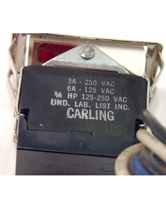 Carlingswitch - 3-392 - Illuminated Switch, rocker. SPST Snap-in.