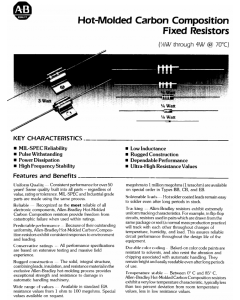 Allen Bradley - AB - RCQ05GF393J - Resistor, CC. 39K Ohm 0.125W. Military.