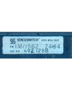 STACOSWITCH - IM1562 - Switch, bank. Contacts: 3 position each DPDT.