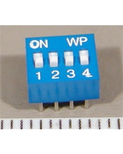 Unidentified MFG - 3-518 - Switch, dip. Contacts: 4P. Package of 10.