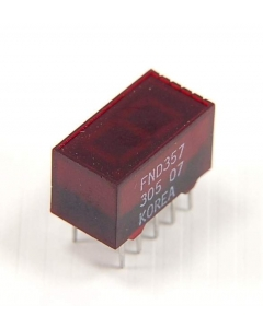 "Quality Technologies - Fairchild - FND367 / FND367C- Opto display. 7 Segment Red LED, 0.362""."