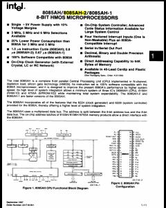 INTEL - P8085AH-2 - IC, Microprocessor. 8-Bit HMOS. CPU.  6MHz,  40-Pin CDIP