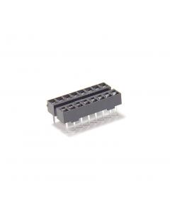 Burndy - DILB16P-123T - Connector, IC socket. 16 Dip. Package of 30.
