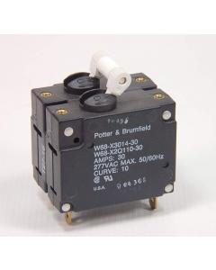 TE Connectivity/AMP - Potter & Brumfield - 2-1393253-4  - W68-X2Q110-30 - Circuit Breaker, Dual 30 Amp 2-Pole 277VAC.
