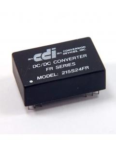 CDI - 215S24FR - DC/DC 2.5W 24VDC-IN 15V-133MA-OUT DIP-24