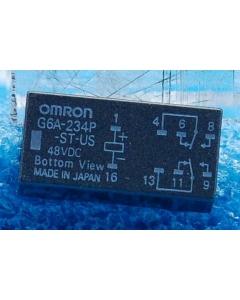 OMRON - G6A-234P-ST-US-DC48 - Relay, DIP. Coil: 48VDC 4.9mA 9700 Ohm.