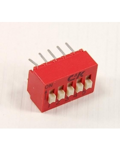 C & K Components - BD05 - Switch, dip. Contacts: SPST 5P.
