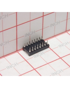AUGAT - 4-114 - Connector, IC socket. 16 Dip. Package of 25.