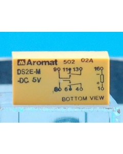Panasonic NAIS Aromat - DS2E-M-DC5V - Relay, Power. DPDT 3A 5VDC. 400mW Gold Contact