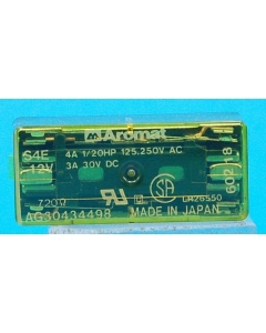 AROMAT - S4E-12V - Relay, control. Input: DC. Contacts: 4PST NO.