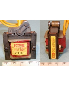 DECCO - DETROIT COIL COMPANY - 9-115  - Laminated Pull Solenoid Assembly - Coil: 115AC.  60 Cycles  2A 61 Ohms.