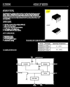 FAIRCHILD - UA555TC - IC, timer. Single timing circuit.