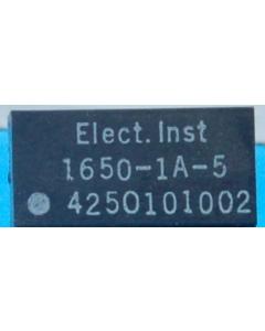 ELEC INST - 1650-1A-5 - Relay, DC. SPST NO 5VDC.