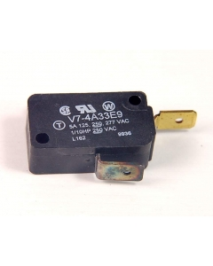 Honeywell/Microswitch - V7-4A33E9 - Switch, micro, pin plunger. SPST 5Amp 125VAC.