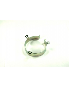 """Unidentified MFG - 5-081 - Capacitor clamps. 3"""" round metal."""