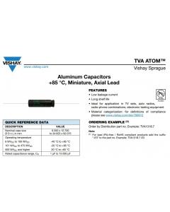 Vishay Sprague - TVA1700 - Atom Capacitor, Electrolytic. 1uF 450V.