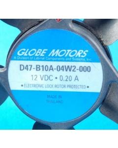 GLOBE - D47-B10A-04W2-000 - Fan, axial. 12VDC 0.20A. RFE.