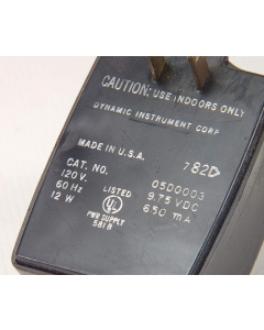 Dynamic Instruments Corp - 05D0003 - AC Adapter. 9.75VDC 650mA.