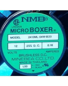 NMB Minebea - 2410ML-04W-B20 - Micro Boxer Axial Fan,  12VDC 0.16A.