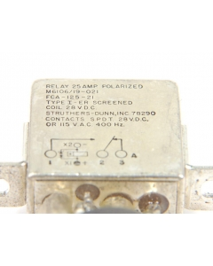 STRUTHERS & DUNN - M6106/19-021 - Relay, power. Input: DC. Contacts: SPDT.