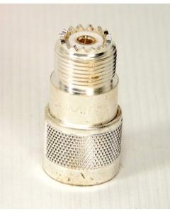Amphenol - Kings - UG-146A/U - 4400 - Connector, coaxial, N Male Plug -to- UHF Female Jack, (N-UHF Adapter).