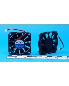 SHICOH ICFAN -  0610-12 - 0610-12HHV - Fan, Axial. 12VDC 0.15A, 60 X 10mm.