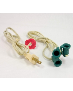NOMA - E13626T, ME-101A - Lamp cord. 2 Concuctor 18AWG, plus 1 lamp socket.