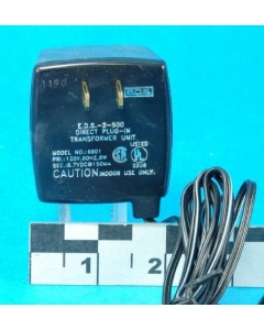EDS - EDS-2-500 - Model Number 6801 - 8.7VDC  AC adapter.  150mA.
