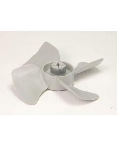 """THORGREN - 5-393 - Grey Plastic Fan Blades 2-1/2"""" Diameter for 1/8"""" Shaft."""