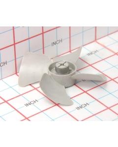 "THORGREN - 5-393 - Grey plastic fan blades 2-1/2"" for 1/8"" shaft."