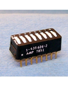 AMP INC - 1-435626-2 - Switch, dip. Contacts: SPST 8P.