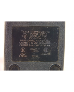 Texas Instruments - AC9500 18V 1.35A - AC output 18VAC @ 1.35Amp and 8.5VAC at 150mA.
