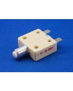 Mech Products - MP1600 10A - Circuit breaker. P/B 10Amp 125VAC.