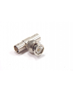"Unidentified MFG - 6-140 - Connector, BNC. ""T"" male to two females."
