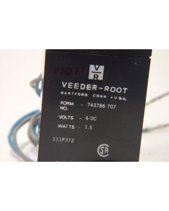 VEEDER-ROOT - 743786-707 - Counter. Six (6) digit, 6VDC, 1.5 watt.