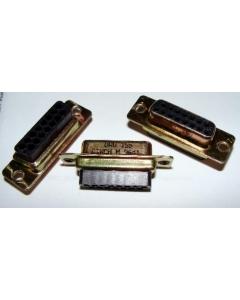 CINCH - DAU-15S - 15-PIN (Female) DB CONN PANEL MT, D-SUB  ( No Pins )