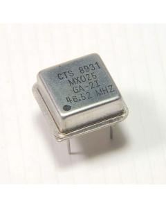 CTS - MX025 46.52MHZ - CRYSTAL OSC HALF-CAN GA-2I SILVER!!!