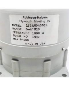 "Robinson-Halpern - 167AW040D31 - Transducer, Differential  Pressure. Range: 0-4"" H2O."