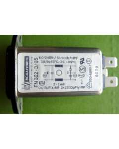 SCHAFFNER - FN322-3/05 - Performance EMI Filter,  3 Amp, 110/250V.