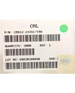 Chicago Miniature Lab - CMD12-21VGC/TR8 - LED. Grn SMD. Package of 10.