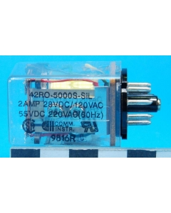 COMM INSTRUMENTS - 42RO-5000S-SIL - Relay, control. Input: DC.